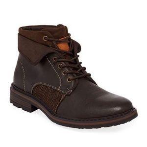 Men's Jef Mixed Leather Combat Boots